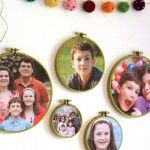 photo frame embroidery hoops