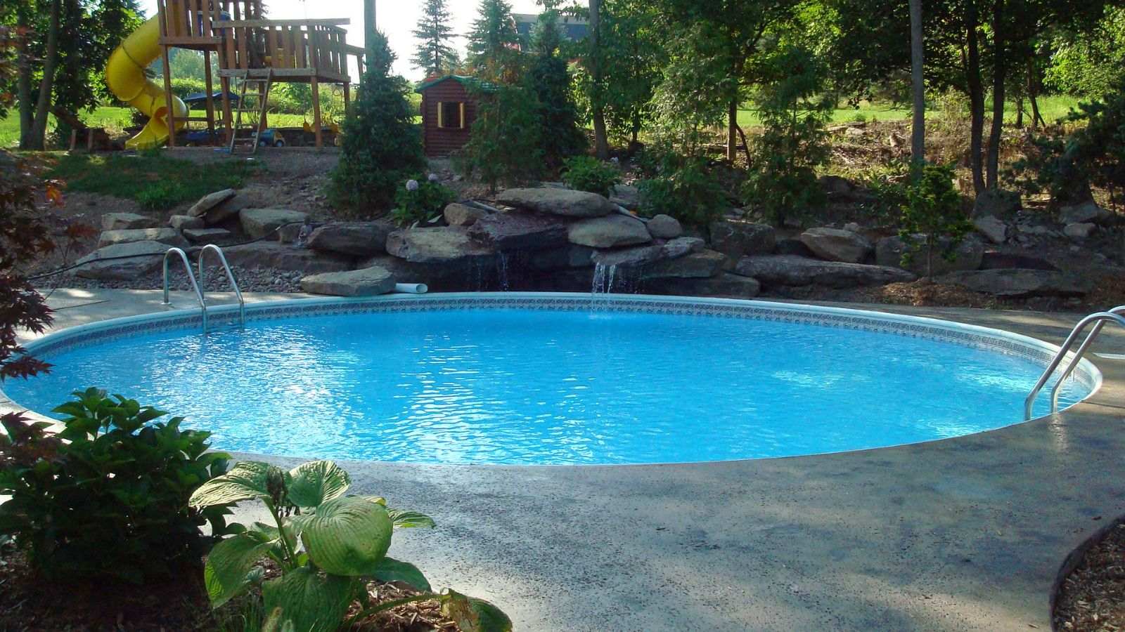 Semi inground pools westrock pools tavern landscape - Prices of inground swimming pools ...