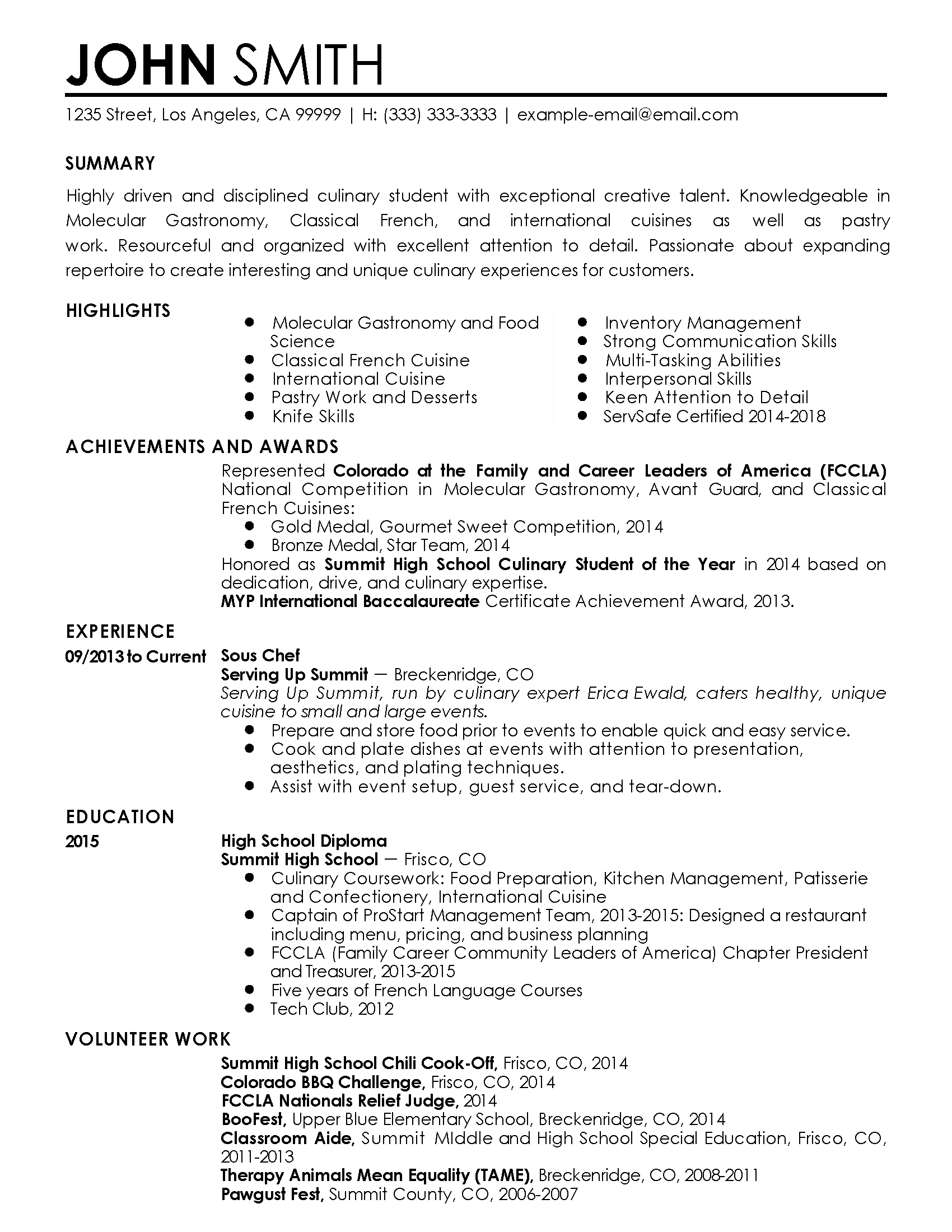 Example Server Resume Unforgettable Server Resume Examples To Stand Out  Myperfectresume .