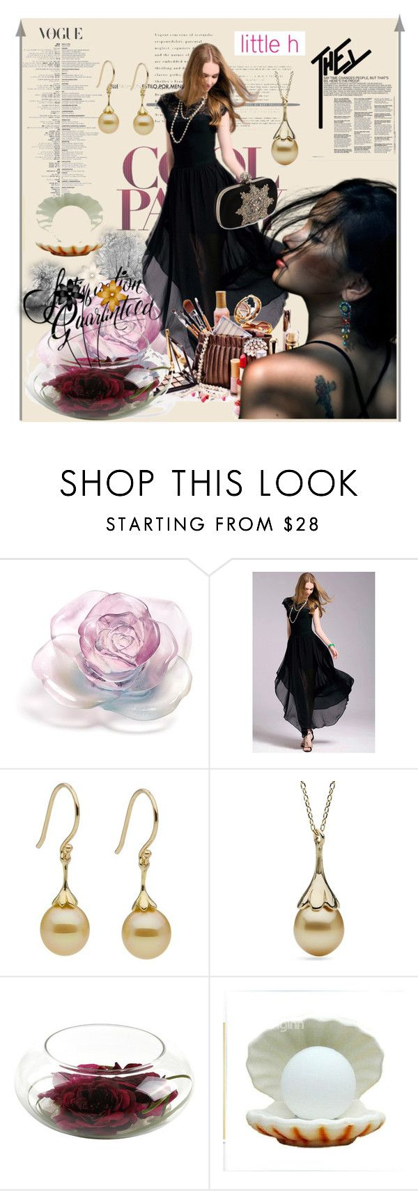 """Little h Jewelry"" by lip-balm ❤ liked on Polyvore featuring Daum, Alexander McQueen, pearljewelry and littlehjewelry"