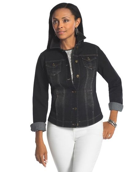 Chico's Black Denim Jacket #chicos