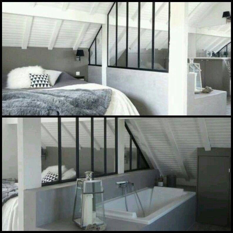 comment cloisonner une sous pente chambre dans les combles astuce am nagement chambre avoir. Black Bedroom Furniture Sets. Home Design Ideas