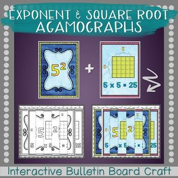 Exponents and Square Roots Agamographs | Pinterest | Square roots ...