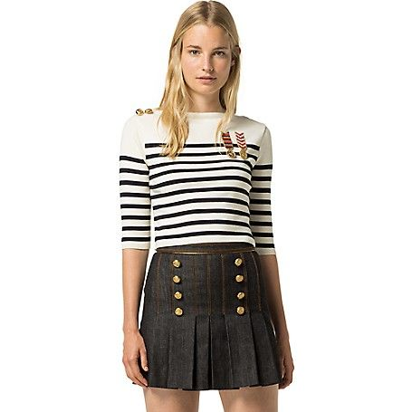 Image for HILFIGER COLLECTION SAILOR CROPPED SWEATER from Tommy Hilfiger USA