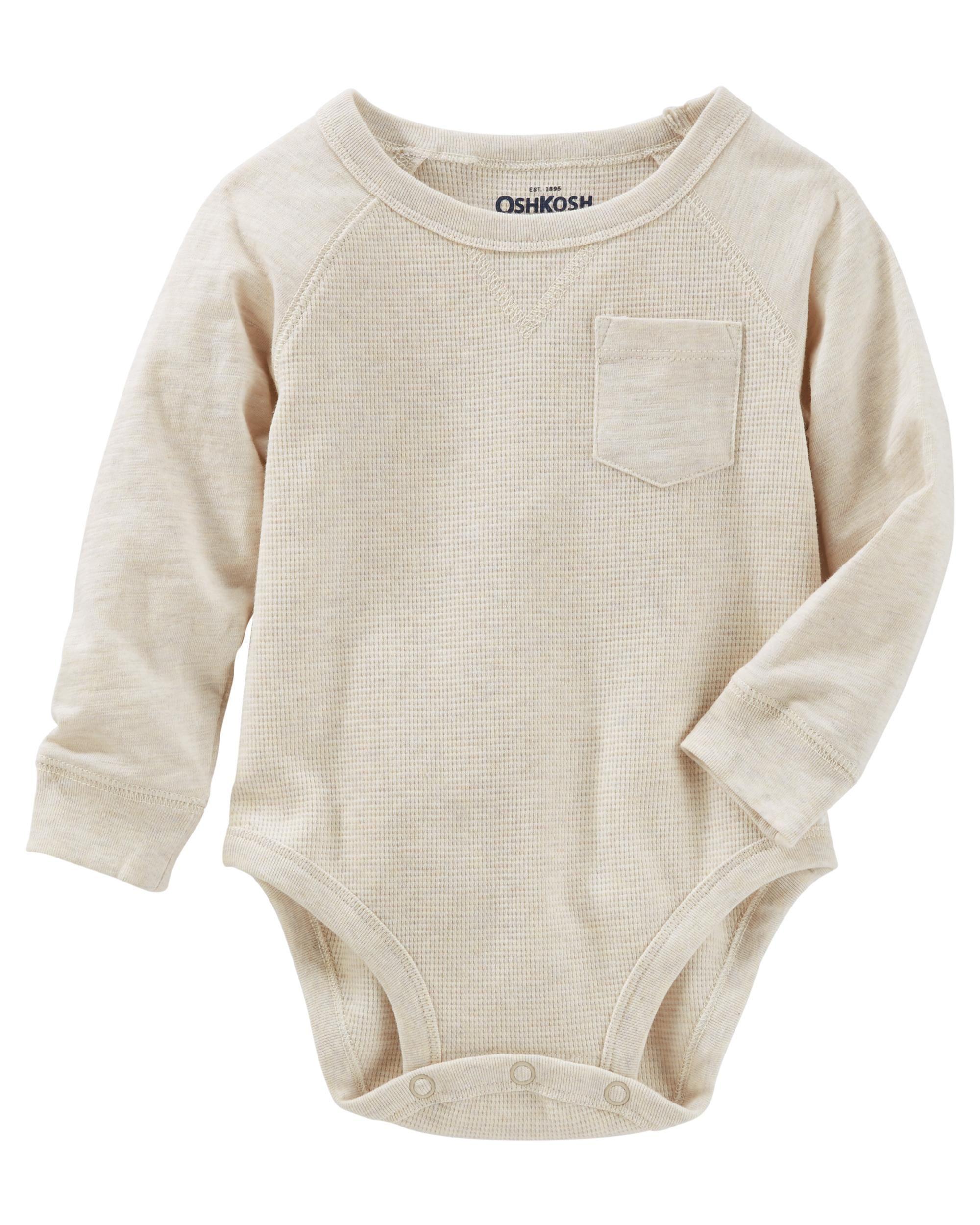 Raglan Pocket Thermal Bodysuit from OshKosh B gosh Shop clothing
