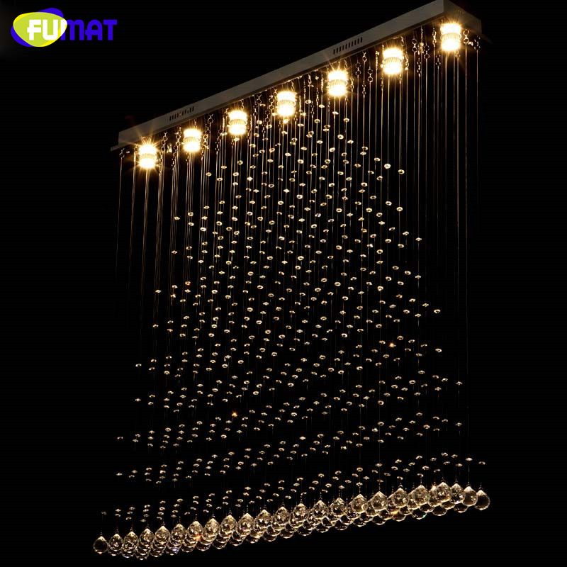 LED K9 Crystal Chandelier Crystal Pyramid Suspension Light Living Room Hotel Project Light Lustre Rectangle Chandelier Villa  #Affiliate