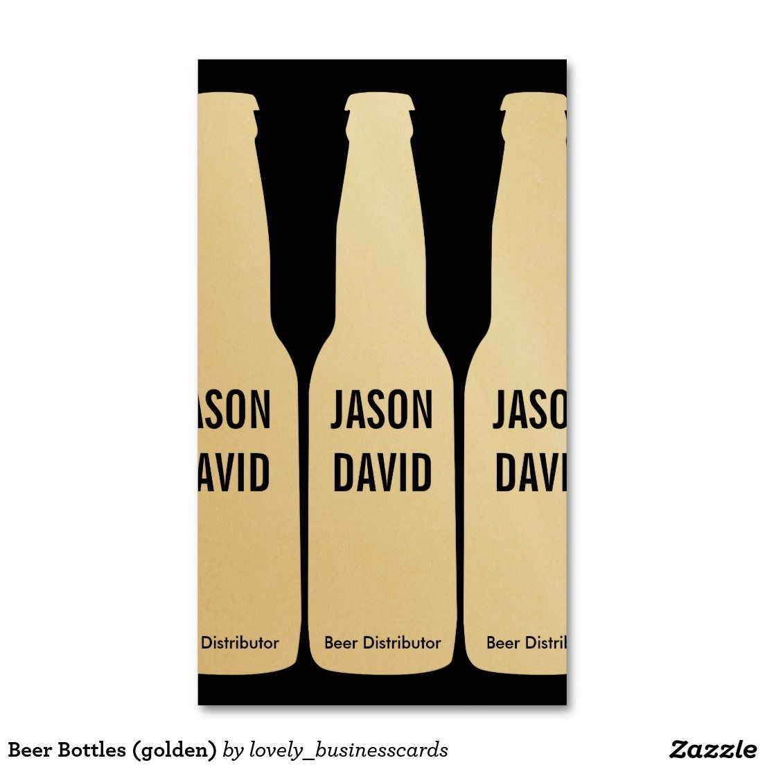 Beer Bottles (golden) Business Card | Beer bottles, Business cards ...