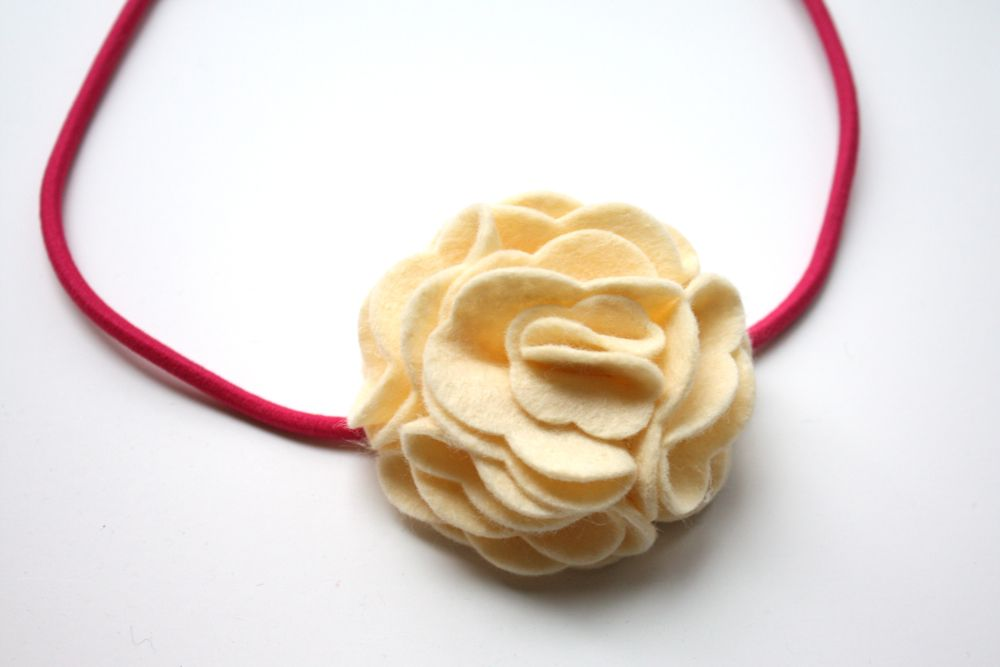 easy layered felt flower