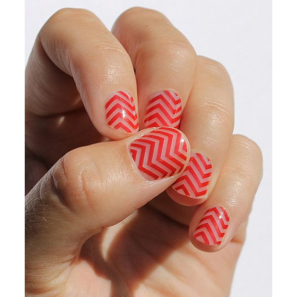 So Gloss Nail Wraps Red Mini Chevron Nail Wrap ($11) ❤ liked on Polyvore featuring beauty products, nail care and nail treatments