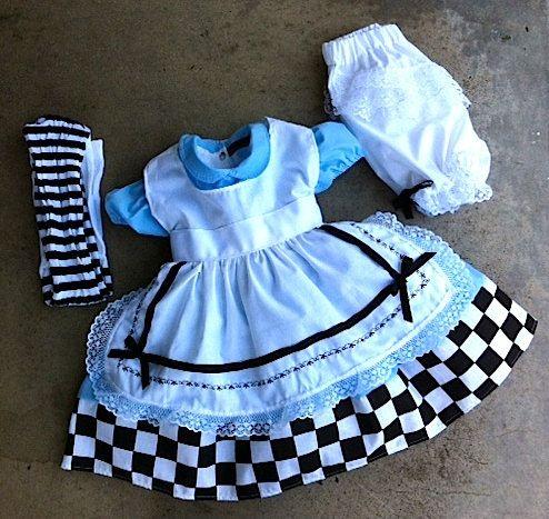 Alice in wonderland dress by CnL4Etsy on Etsy, $140.00