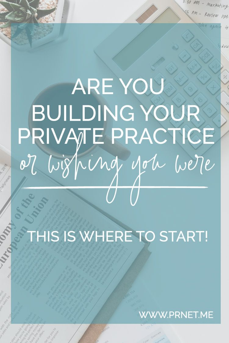 Where to start when creating a Private Practice