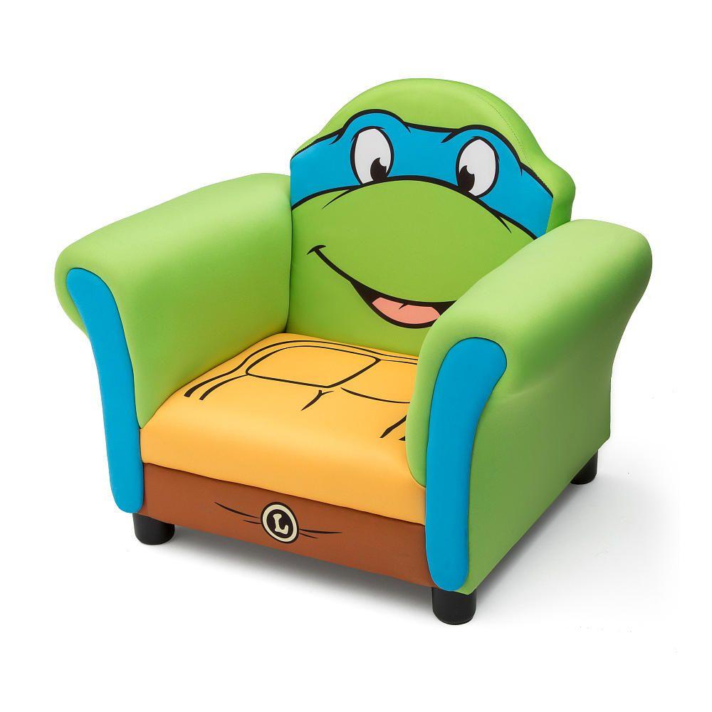 ninja turtle chair toys r us exercise ball target delta upholstered teenage mutant turtles