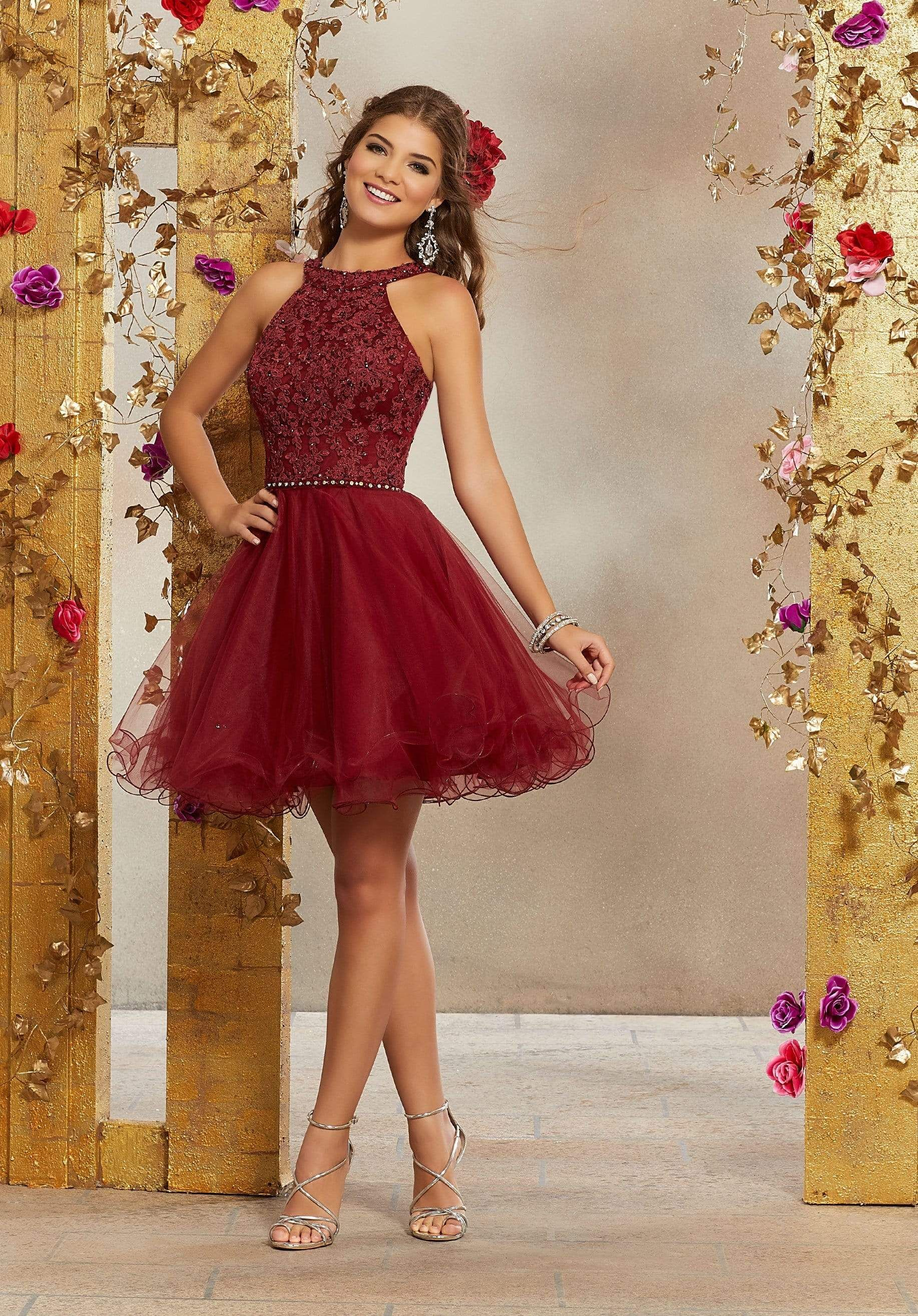 Vizcaya by Mori Lee - 9508 Crystal Beaded Lace Bod