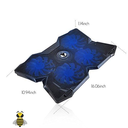 Tree New Bee Cooling Pad for 15.6-17-Inch Laptops with Four 120mm Fans at 1...