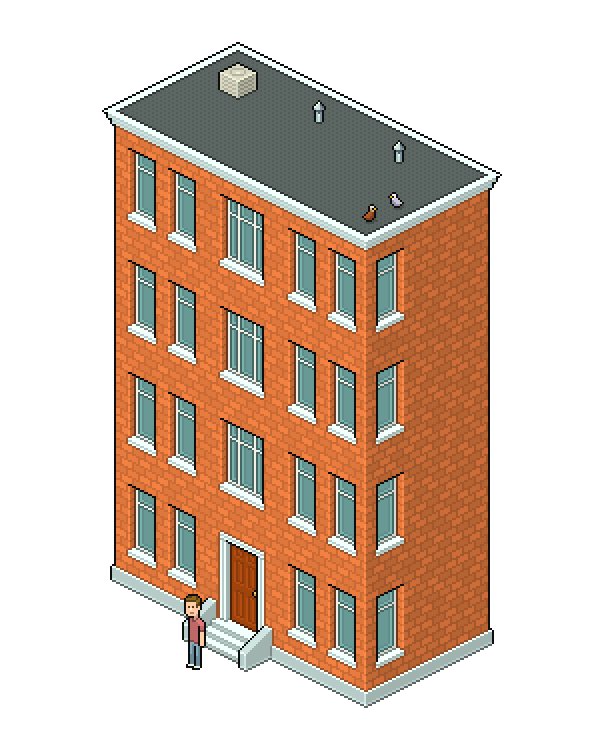 Create an Isometric Pixel Art Apartment Building in Adobe