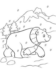 Polar Bear Coloring Page   This Free, Polar Bear Coloring Page Will Melt  Your Heart
