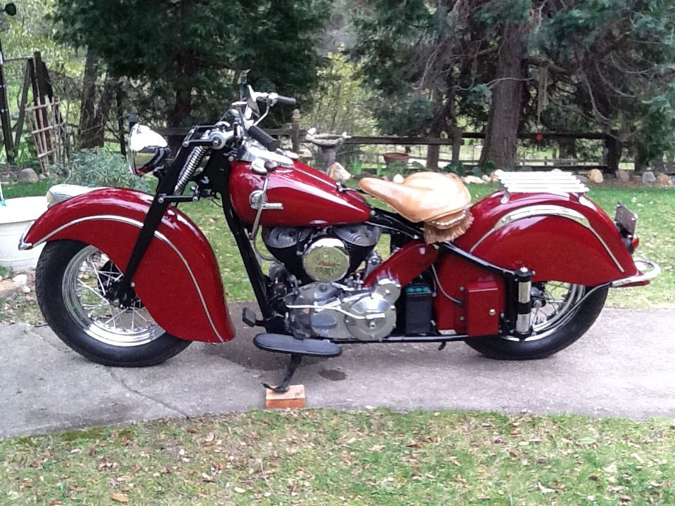 Crazy Horse 46 Indian Chief Indian Motorcycle Vintage Bikes Indian