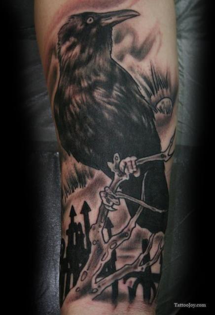Black Crow Tattoo Tattoozles N Bedazzles Pinterest Tattoos