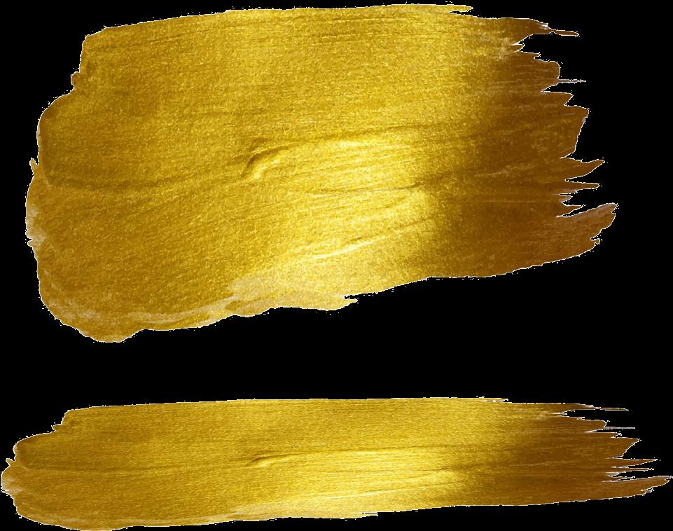 Gold Foil Brush Strokes Png