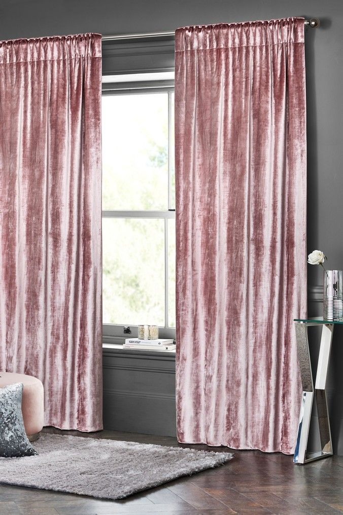 Plush Velvet Eyelet Lined Heavyweight Curtains In 2020 With