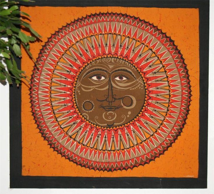 Early/Mid 1970s Batik By Sri Lankan Batik ...sun