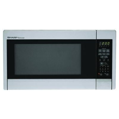 Sharp 1 3 Cu Ft Countertop Microwave In Stainless Steel With