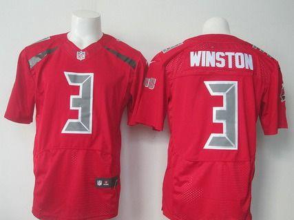 Men's Tampa Bay Buccaneers #3 Jameis Winston Nike Red Color Rush 2015 NFL Elite Jersey