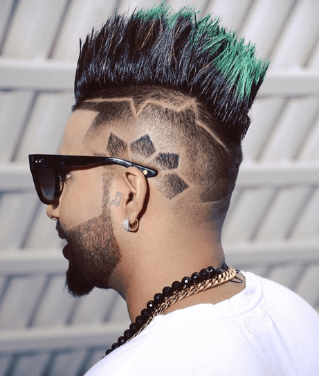 Blue Spikes Hairstyle Mens Funky Hairstyles Gents Hair Style Short Shaved Hairstyles