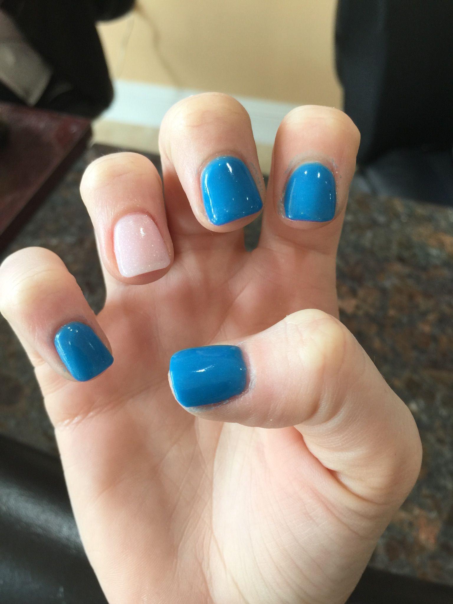 Baby blue and sparkle pink Nexgen nails | Nails | Pinterest