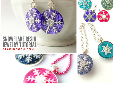 How to make snowflake resin jewelry tutorial the beading gems how to make snowflake resin jewelry tutorial the beading gems journal aloadofball Images
