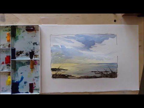 A Wet Into Wet Demonstration An Approaching Storm Simple And