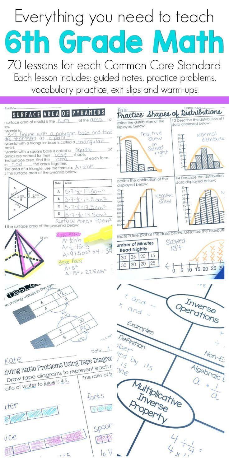 6th Grade Math Guided Notes   6th Grade Math   Sixth grade math