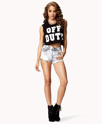 Off Duty Crop Top | FOREVER21 - 2077156181