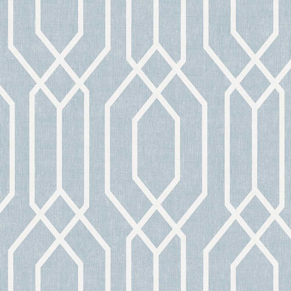 ARTHOUSE 908209 TEAL NEW YORK GEO TRELLIS WALLPAPER