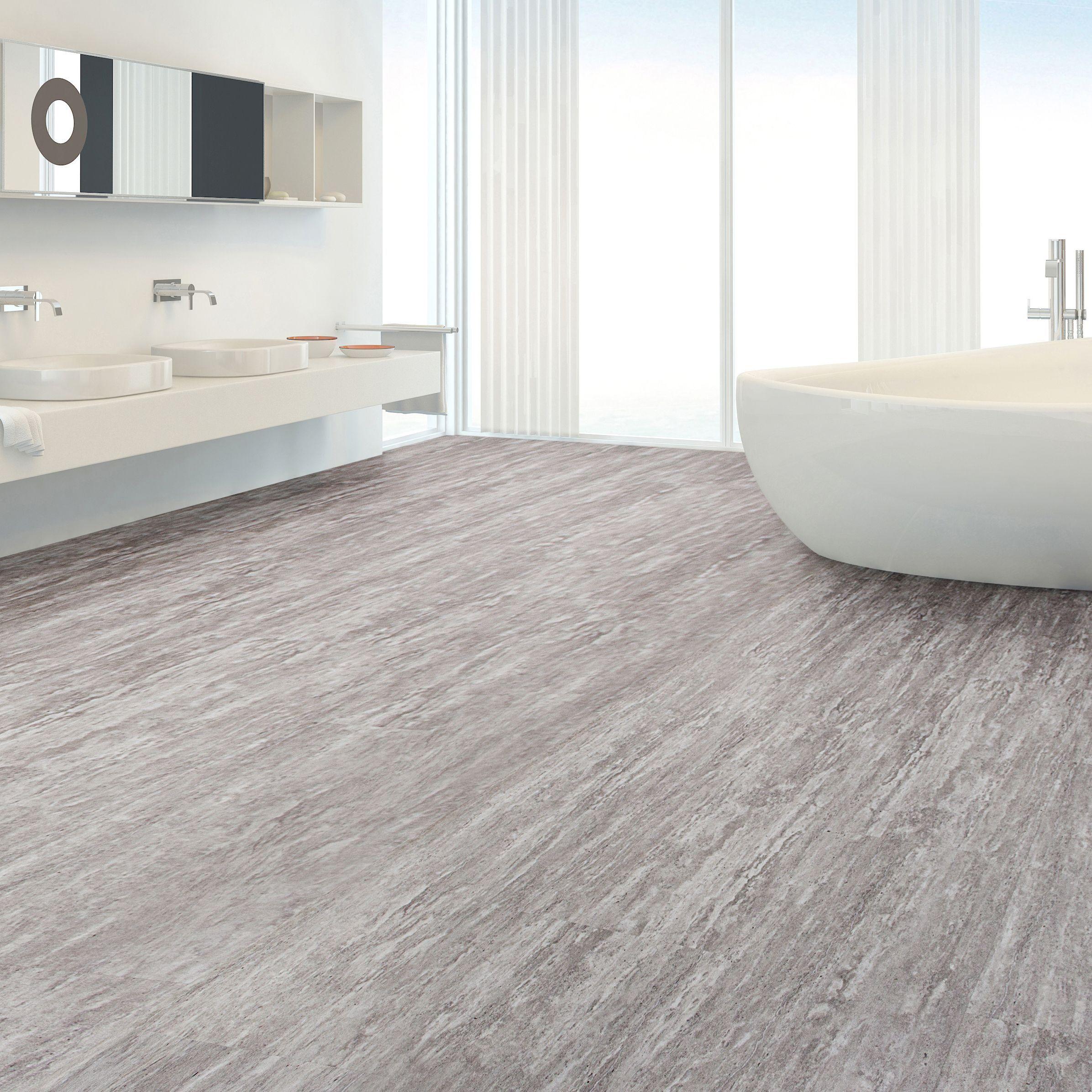 Grey Natural Stone Effect Waterproof Luxury Vinyl Flooring Pack 2 22m² Departments Diy At B Q