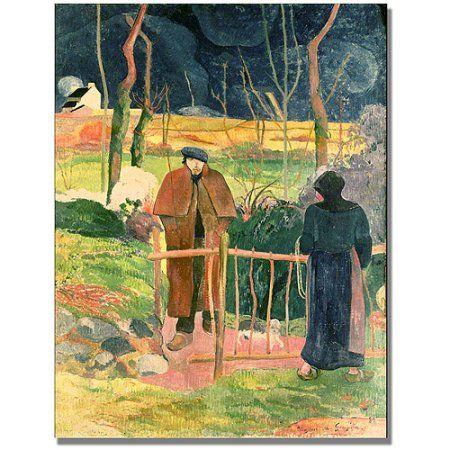 Trademark Fine Art Bonjour, Monsieur Gauguin Canvas Art by Paul Gauguin, Size: 35 x 47, Multicolor