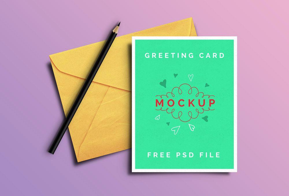 Greeting Card Psd Mockups Graphicsfuel Mockup Free Psd Free Mockup Free Psd