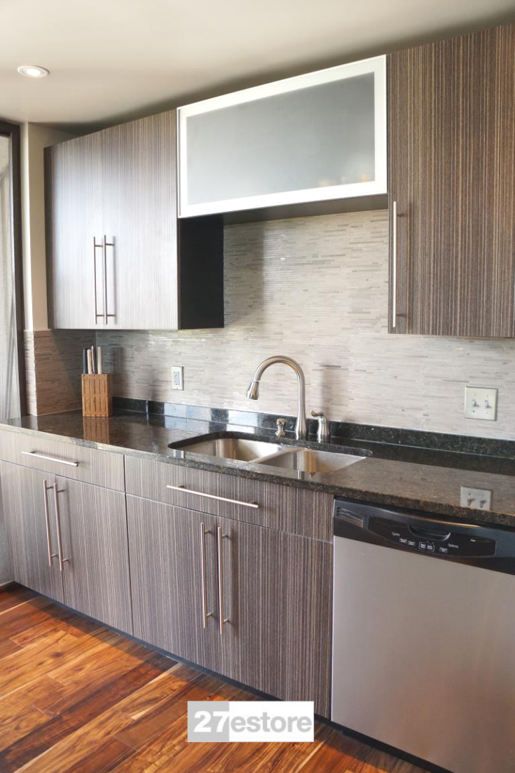 Grey Zebrawood Textured Wood Kitchen Cabinets Kitchen Cabinets Kitchen Design