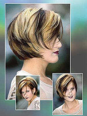 Bob hair style hair with highlight in blackand blonde short hair bob hair style hair with highlight in blackand blonde pmusecretfo Images