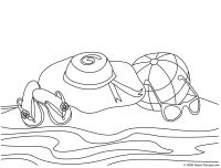 Beach Coloring Page Easy Printables Pinterest Beach Patterns
