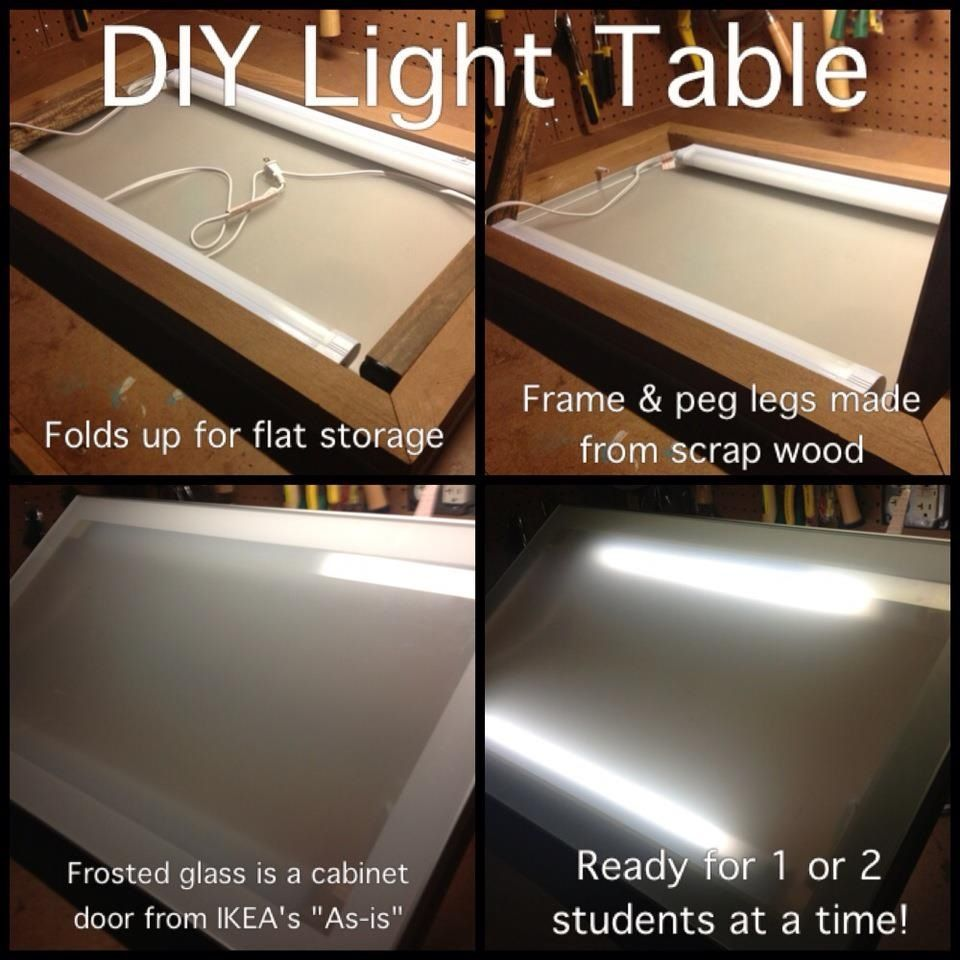 diy light table art room pizzazz pinterest diy light table diy light and lights. Black Bedroom Furniture Sets. Home Design Ideas