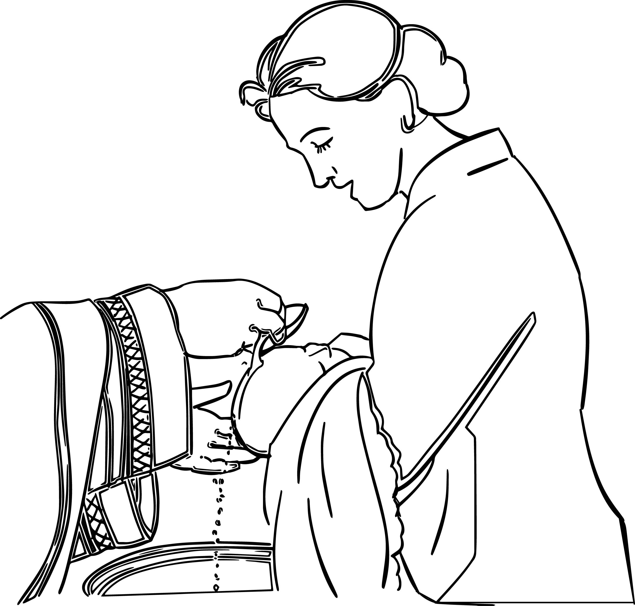Nice Adult Woman Baby Wash Coloring Page