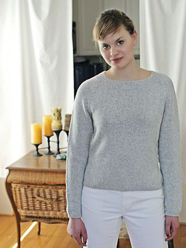 4b50c36954ce0b Top Down Pullover Knitting Pattern - Basic Sweater Pattern - Chic Knits  Basic Chic Pulli - Downloadable Knitting Patterns