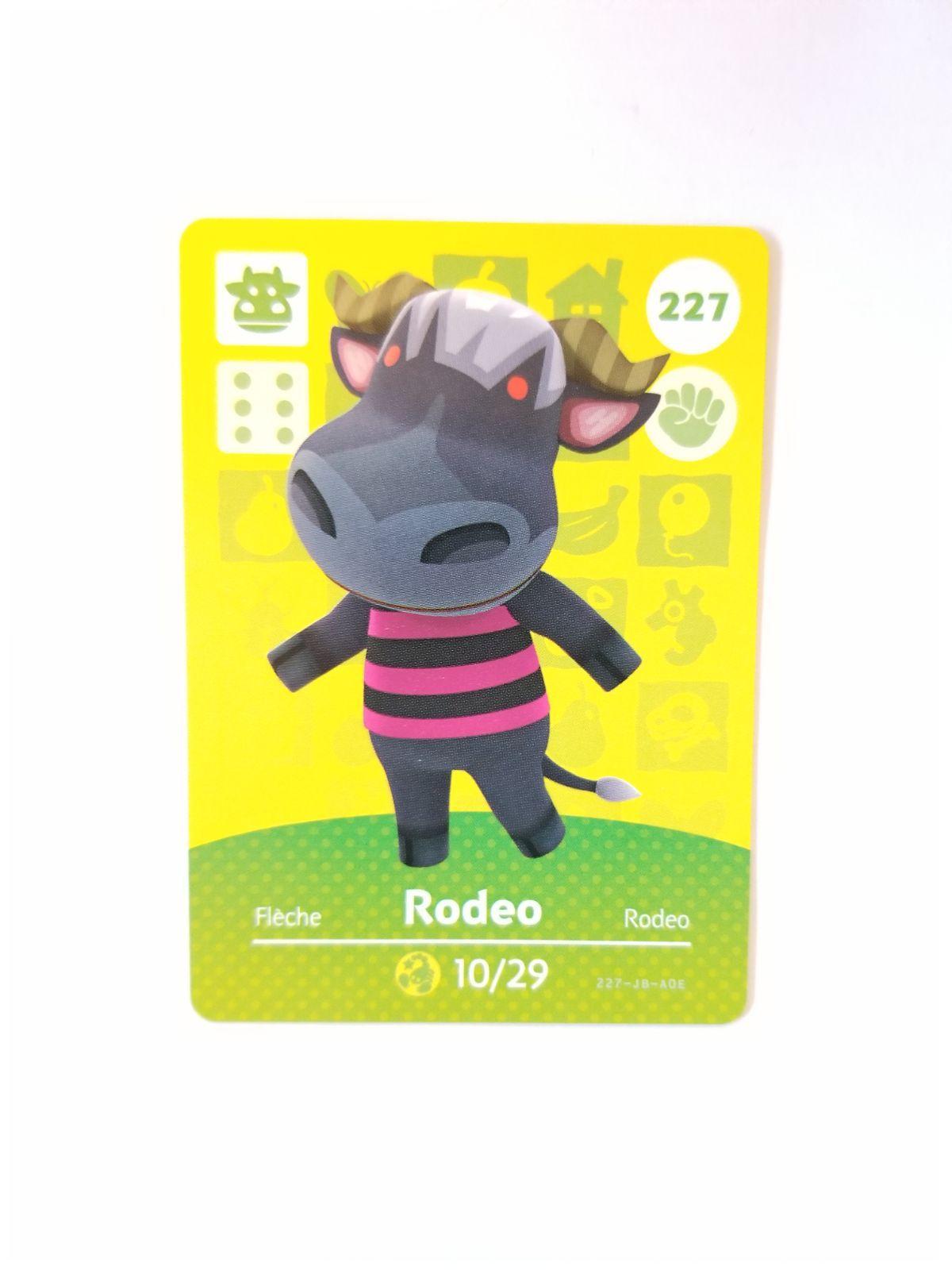 Animal Crossing Amiibo Card Rodeo 227 Mercari in 2020