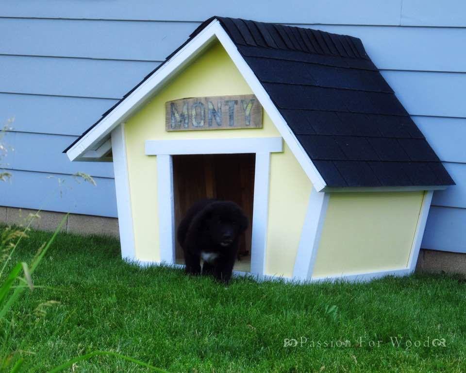 Tutorialous.com   10 amazing dog house plans!   dog run   Pinterest
