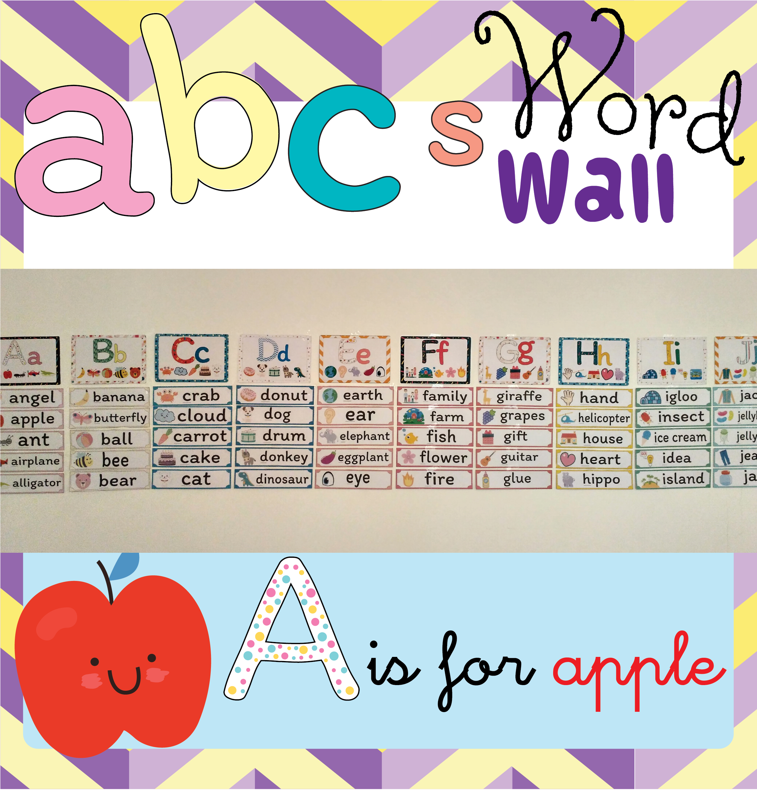 Abc S Word Wall Elementary Teaching Resources Kindergarten Resources Word Wall