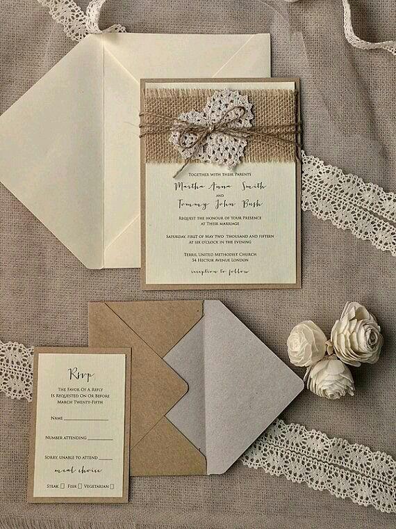 Rustic Chic Wedding Invitations