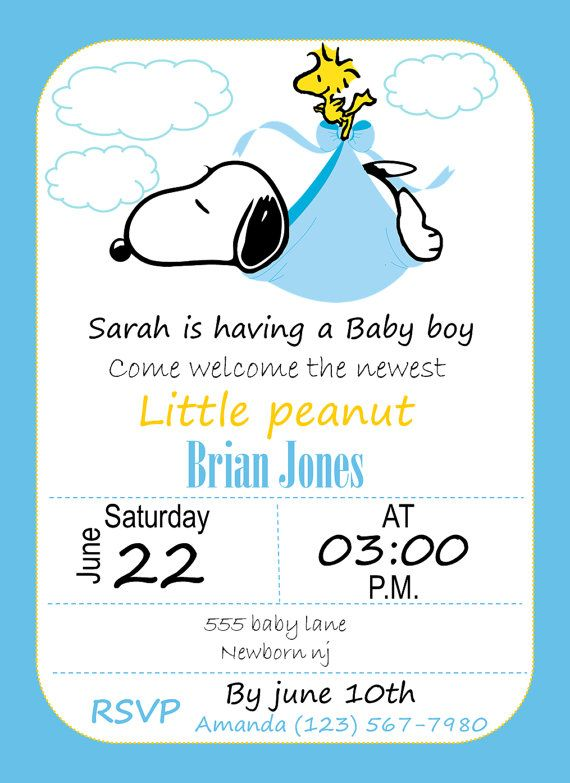 Baby Shower Snoopy Invitation