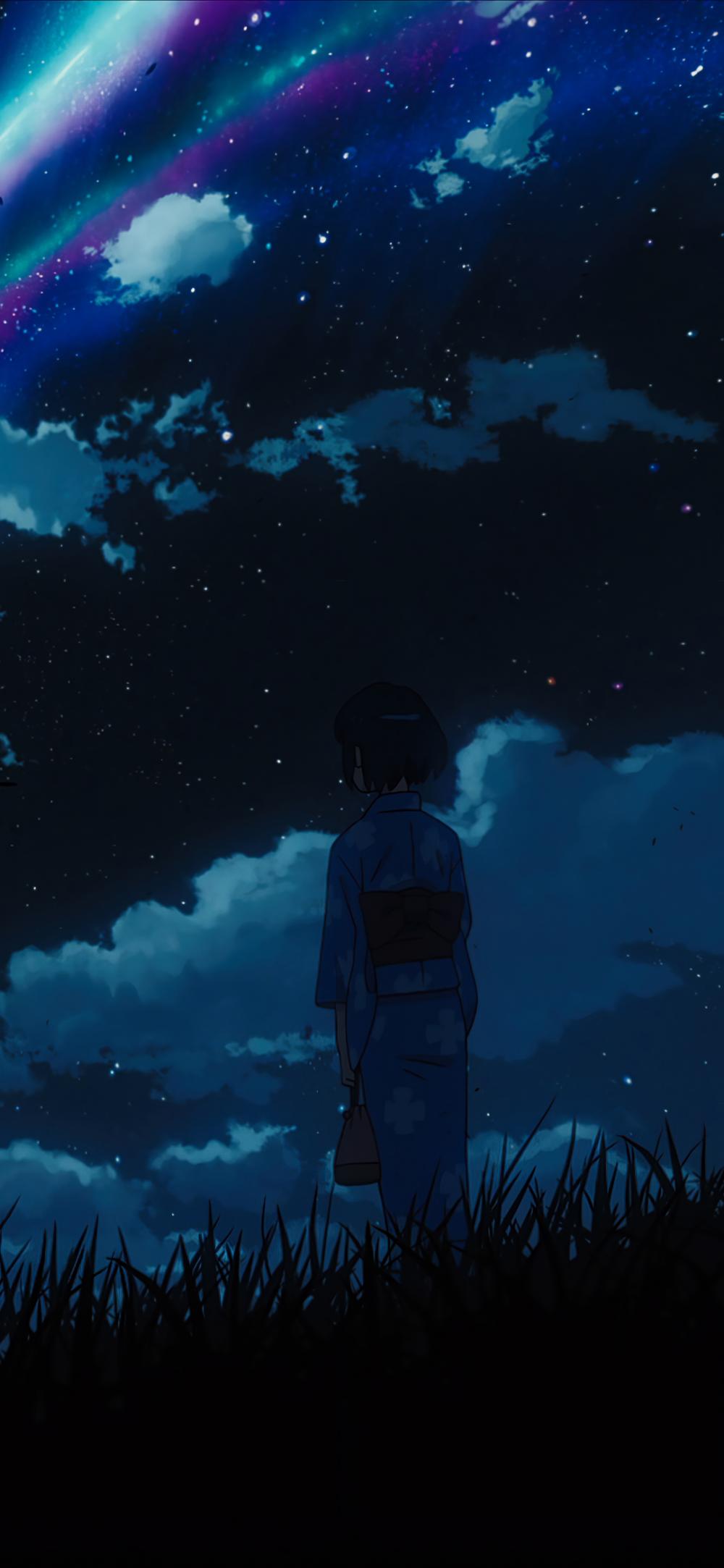 Anime Your Name 1080x2340 Mobile Wallpaper Your Name Wallpaper Anime Wallpaper Phone Blue Anime