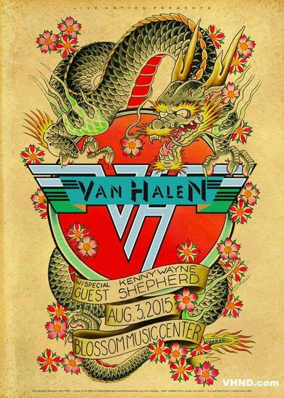 COLOR POSTER 24 X 36 Inches Looks great VAN HALEN
